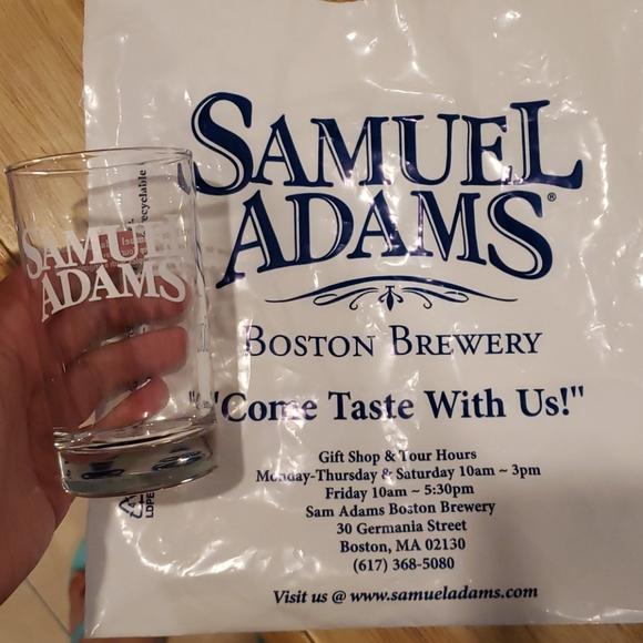 Samuel adams beer memorabilia small glass